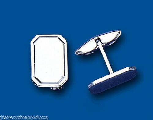 Cufflinks Solid Sterling Silver Rectangular